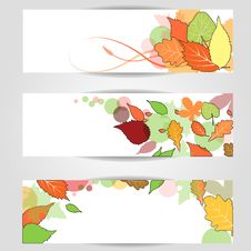 Free Autumn Banner. Eps10. Royalty Free Stock Photo - 26045225