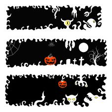 Free Halloween Banners Royalty Free Stock Photo - 26045235