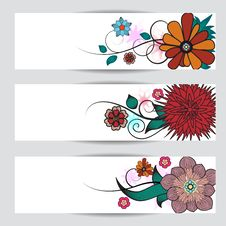 Free Floral Banners Stock Images - 26045244