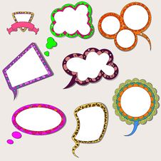 Free Set Of Speech Bubbles Stock Photo - 26045290