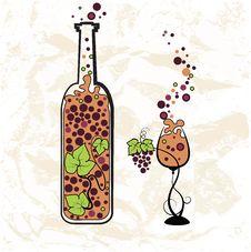 Free Vintage Wine Bottle Stock Image - 26045311