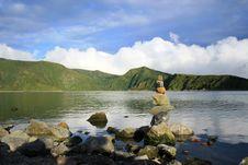 Free Zen Rocks Azores Stock Photography - 26047772