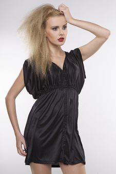 Free Young Pretty Woman With Beautiful Blond Hairs Royalty Free Stock Photography - 26048917