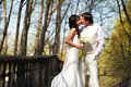Free Kiss Bride And Groom In Walking Stock Photography - 26053882