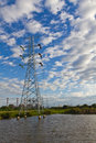 Free High Voltage Power Transmission Lines And Pylons Royalty Free Stock Image - 26057936