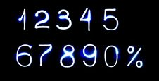 All Numbers Made From Light Royalty Free Stock Images
