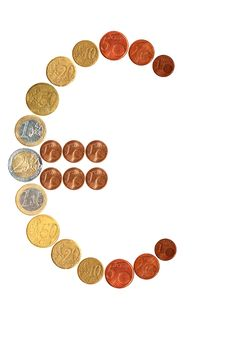 Free Euro Sign Made Out Of Euros Stock Image - 26053151