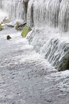 Free Water Flowing Over Rocks. Royalty Free Stock Photo - 26055735