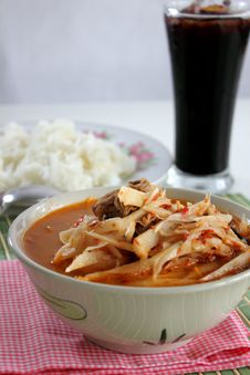 Free Curry Soft Bamboo Shoots Royalty Free Stock Image - 26056736