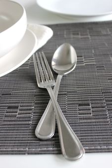 Free Spoon And Fork Royalty Free Stock Image - 26056916