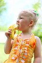 Free Portrait Of A Pretty Girl Eat A Banana Royalty Free Stock Photo - 26060175