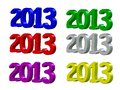Free Happy New Year 2013 In 3D Royalty Free Stock Image - 26065476