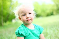 Free Portrait Of A Girl Child Blond Royalty Free Stock Photo - 26060105