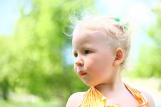 Free Portrait Of A Cute Child Girl Royalty Free Stock Image - 26060156