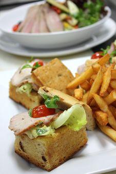 Open Ham Sandwich Royalty Free Stock Photography