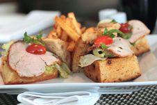 Open Ham Sandwich Stock Photos