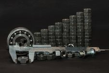 Free A Big Heap Of Bolts And Nuts Royalty Free Stock Photo - 26063215