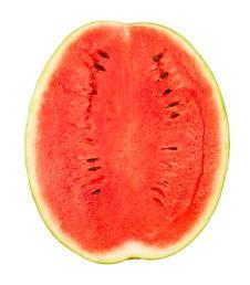 Cut Watermelon Half Royalty Free Stock Image