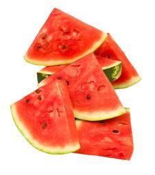 Free Watermelon Chunks Stock Photo - 26063330