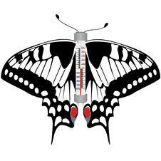 Free Butterfly Thermometer Stock Photos - 26064243