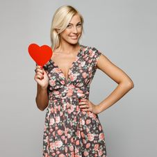 Free Female With Heart Shape Stock Photography - 26066302
