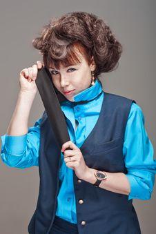 Beatiful Stewardess Stock Image