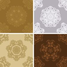 Free Set Of Seamless Vintage Pattern. Royalty Free Stock Images - 26068309