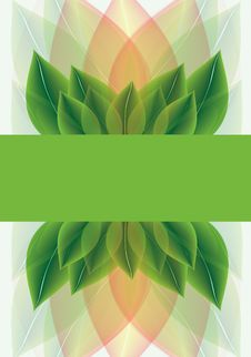Free Botanical Background Of Stylised Leaves Royalty Free Stock Photos - 26068698