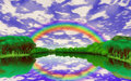 Free Rainbow Over The Lake Stock Image - 26072501