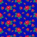 Free Red Flowers Seamless Pattern Stock Images - 26073084