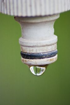 Water Drop On A Spigot Stock Image