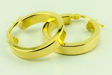 Free Earrings 18 Karat Gold Stock Photos - 26070413