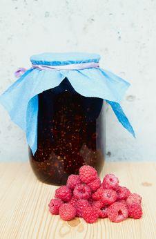 Free Fresh Raspberries And Jam Royalty Free Stock Image - 26075726