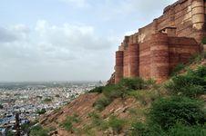 Majestic Mehrangarh Fort Royalty Free Stock Photo