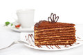 Free Sweet Chocolate Cake On Table Stock Photography - 26084362