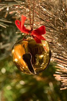 Free Jingle Bell Ornament Royalty Free Stock Image - 26082786