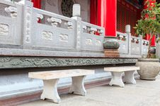 Chinese Temple Terrace Royalty Free Stock Images