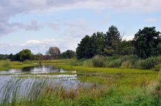 Free Lake In The Field In The Countryside Stock Photos - 26085023
