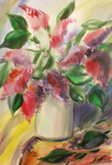 Free Watercolor Red Flowers Royalty Free Stock Image - 26085976