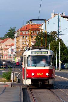 Free Prague Tram Royalty Free Stock Photo - 26088815