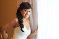 Free Happy Bride Near Sunny Window Stock Image - 26092481