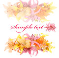 Free Gentle Soft Card With Lily On A White Background Royalty Free Stock Image - 26094616