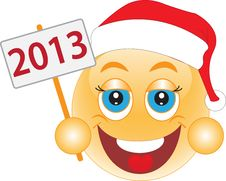 Smile New Year S Eve, Christmas Day. Smile. Royalty Free Stock Photo