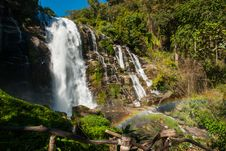 Free A Beautiful Waterfall With Rainbow Stock Photos - 26091973