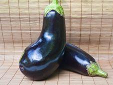Free Two Eggplants Stock Images - 26092454