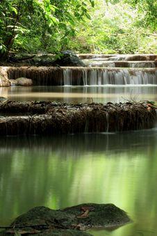 Free Erawan Waterfall Stock Photography - 26092922