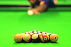 Free Man Play Billiards Royalty Free Stock Photos - 26093108