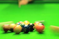 Free Shooting Billiards Royalty Free Stock Image - 26093276
