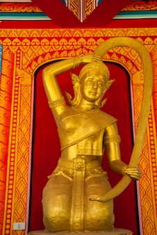 Free Golden Thai Goddess Stock Images - 26093774