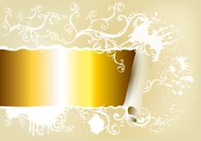 Free Banner Decorated By Ornament With Space For Text Stock Photo - 26094160